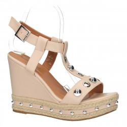Sandale cu platforma pentru dama, roz - W350