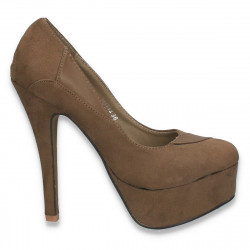 Pantofi inalti, pentru dama, kaki - W361
