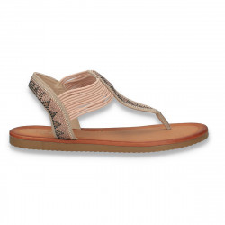 Sandale infradito cu strasuri, pentru dama, roz - W368