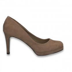 Pantofi cu varf rotund, pentru dama, maro - W371