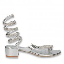 Sandale glami dama, argintii - W382