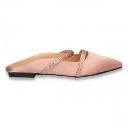 Saboti fashion din satin roz, marca Mellisa - W383