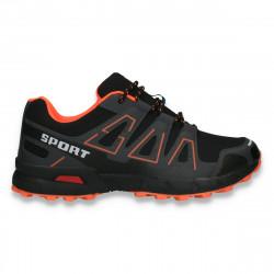Pantofi trekking pentru barbati, negru-portocaliu - W429