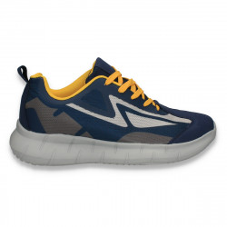 Pantofi sport pentru barbati, bleumarin-galben - W431