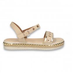 Sandale dama, bej-auriu - W437