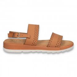 Sandale casual dama, maro - W461