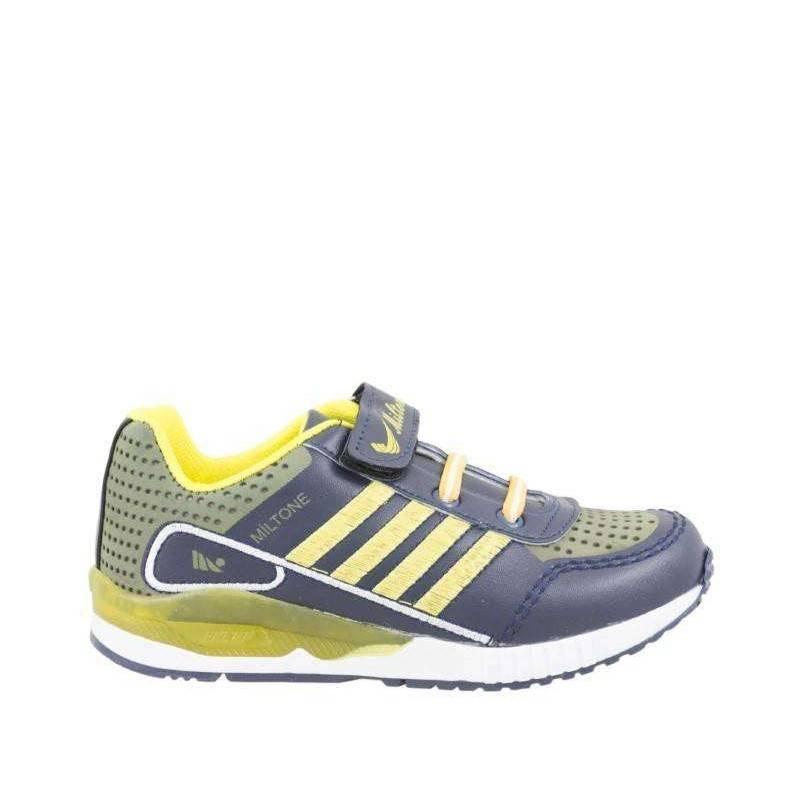 Pantofi sport baieti gri cu galben marca Miltone VGT15.5BNB4GRG-45