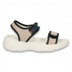 Sandale casual pentru fete, aurii - W467