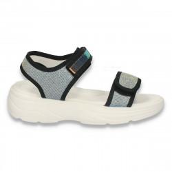 Sandale casual pentru fete, argintii - W468