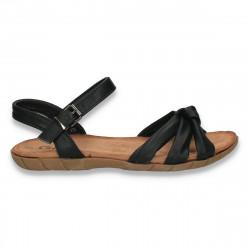 Sandale comode pentru dama, negre - W477