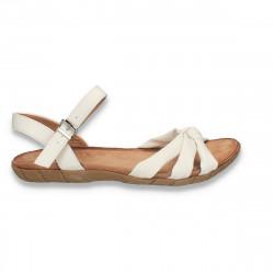 Sandale comode pentru dama, albe - W478