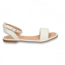 Sandale dama cu talpa joasa, albe - W482