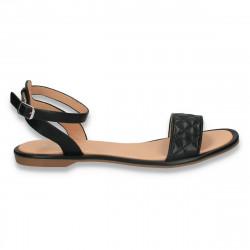 Sandale dama cu talpa joasa, negre - W483