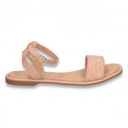 Sandale dama cu talpa joasa, roz - W484
