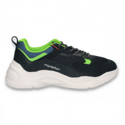 Pantofi sport pentru barbati, bleumarin-verde - W486