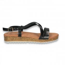 Sandale moderne pentru dama, negre - W489