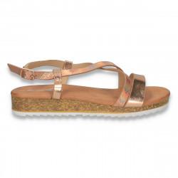Sandale moderne pentru dama, aurii - W490