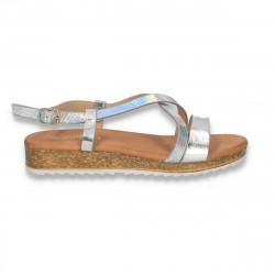 Sandale moderne pentru dama, argintii - W491