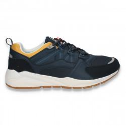 Pantofi sport barbati, bleumarin-galben - W498