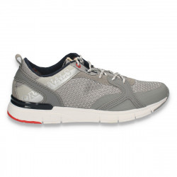 Pantofi sport barbati, gri-bleumarin - W499
