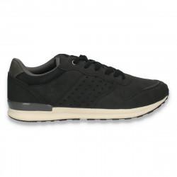 Sneakers casual pentru barbati, negru - W501