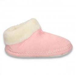 Botosei caldurosi, tip cizma, pentru femei roz - LS611