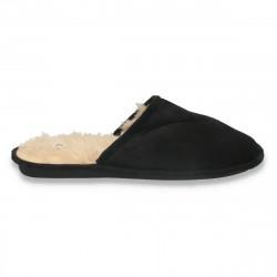 Papuci de casa imblaniti, pentru barbati, negri - LS615