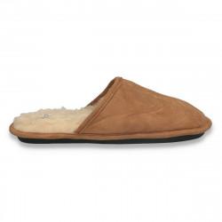 Papuci de casa imblaniti, pentru barbati, maro - LS616