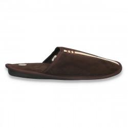 Papuci de casa pentru barbati, maro inchis - LS617