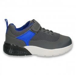 Incaltaminte sport, pentru baieti, gri-albastru - W537