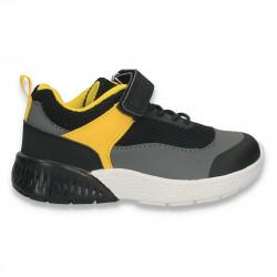 Incaltaminte sport, pentru baieti, negru-galben - W538