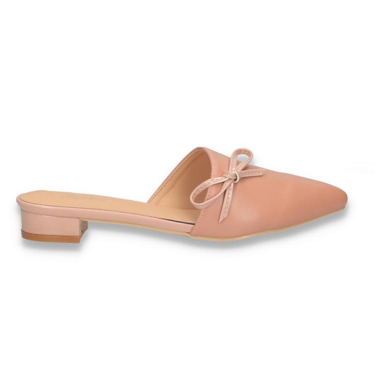 Saboti fashion, roz, varf ascutit - W561