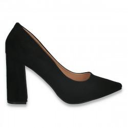 Pantofi eleganti, cu toc gros, negri - W584