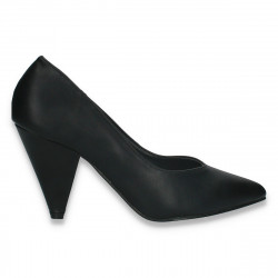 Pantofi eleganti, cu toc mic, negri - W593