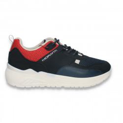 Pantofi sport barbati, bleumarin-rosu - W599