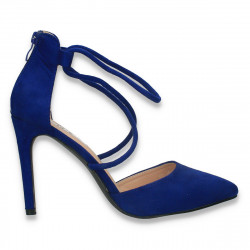 Pantofi eleganti, cu toc stiletto, albastri - W608