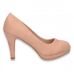 Pantofi eleganti, cu platforma mica, roz - W642