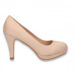 Pantofi eleganti, cu platforma mica, bej - W643