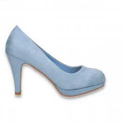 Pantofi eleganti, cu platforma mica, albastru deschis - W644