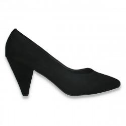 Pantofi eleganti, cu toc mic, negri - W646