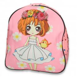 Rucsac mic pentru fetite, cu inimioare, roz - M285