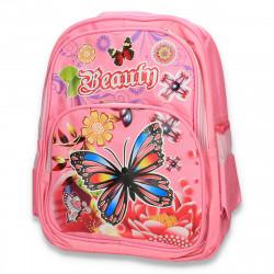 Rucsac fete, cu imprimeu, Beauty, roz - M294