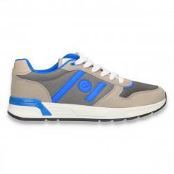 Sneakers pentru barbati, din material textil, gri-albastru - W671