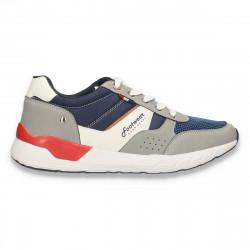 Sneakers pentru barbati, gri-bleumarin - W686