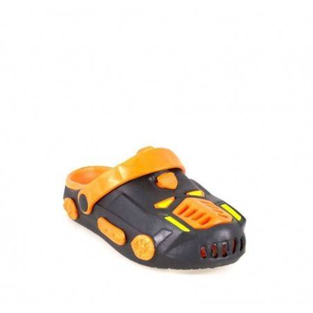 Saboti baieti negru cu portocaliu VGTE110001NP-205