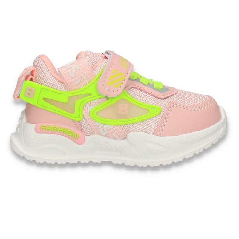 Pantofi sport pentru fetite, roz - W691