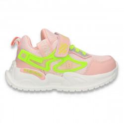 Pantofi sport pentru fetite, roz-verde - W692