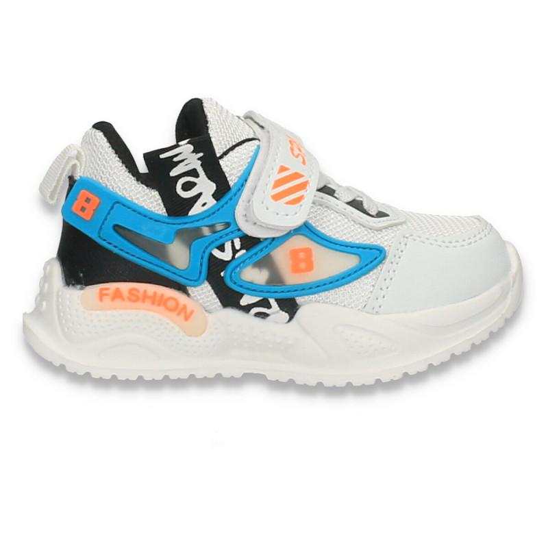 Pantofi sport pentru copii, albi - W693