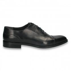 Pantofi din piele pentru barbati, clasic-elegant, negri - W712
