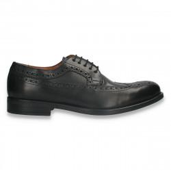 Pantofi eleganti pentru barbati, in stil Oxford, din piele, negri- W714